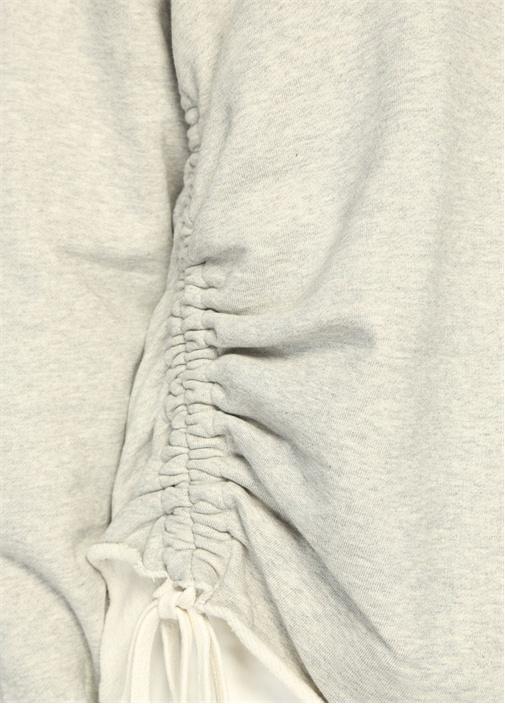 Able Gri Büzgülü Sweatshirt