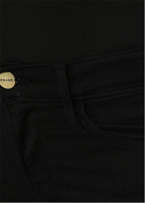 Skinny Fit Paçaları Püsküllü Crop Jean Pantolon