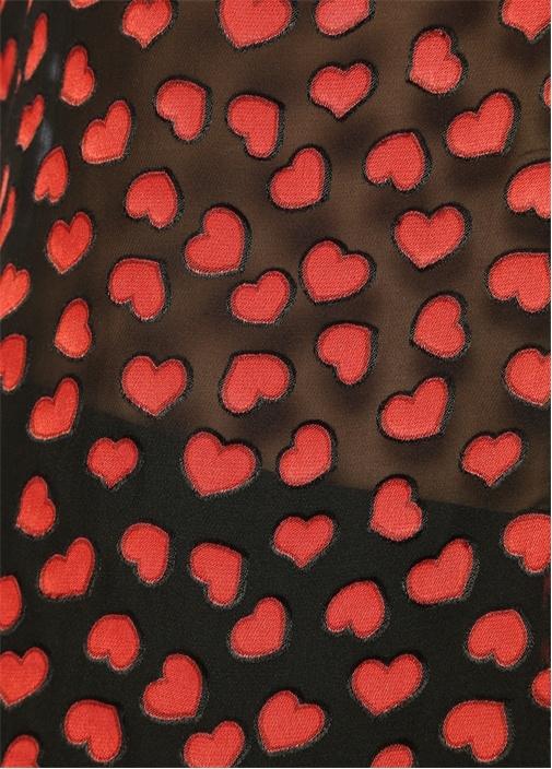 Emmerson Siyah Kalp Desenli Gömlek