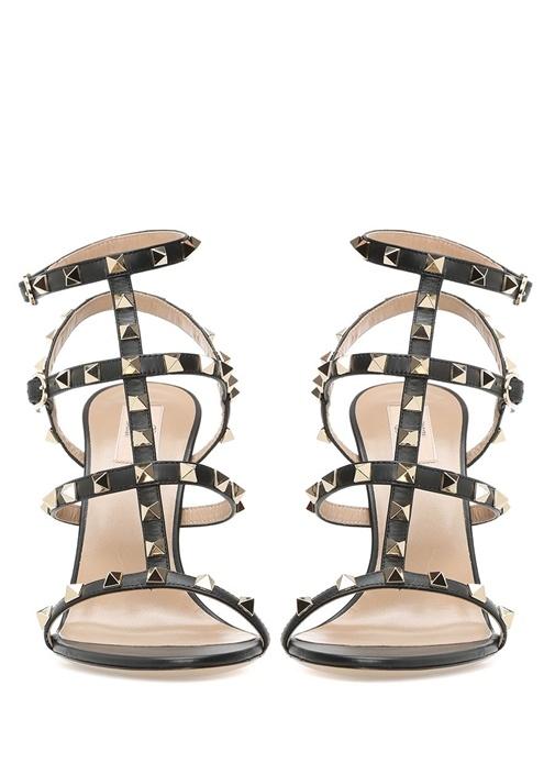 Valentino Garavani Siyah Kadın Deri Sandalet