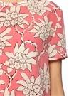 Pembe Beyaz Çiçek Desenli İpek Bluz