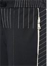 Lacivert Yüksek Bel Beli Dikişli Dar Paça Pantolon