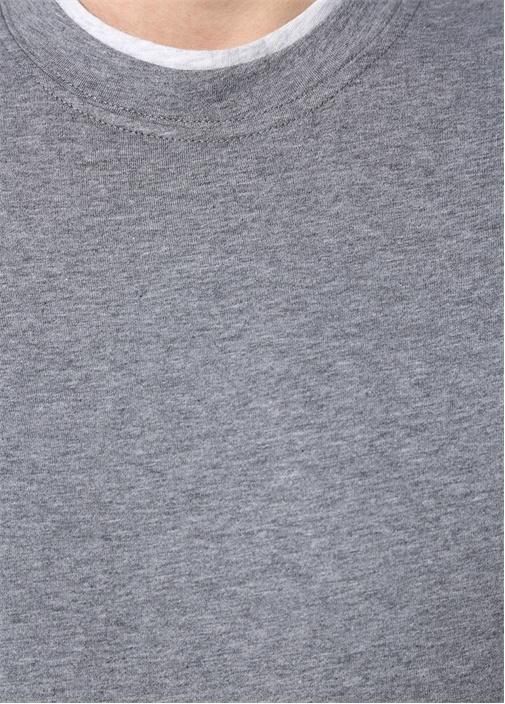 Gri Basic Kısa Kollu Sweatshirt