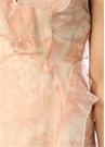 Pembe İpek V Yaka Elbise