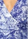 Petunia Mavi Çiçekli Yırtmaçlı Maksi Şifon Elbise