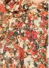 Kırmızı Çiçekli Fırfırlı Bluz