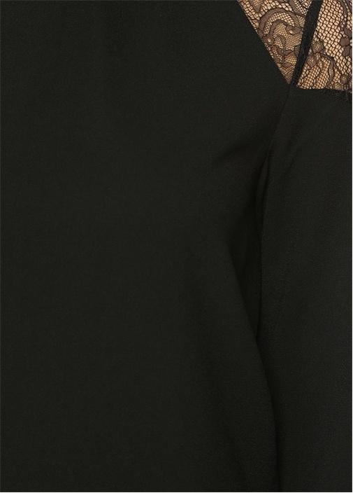 Jay Omuz Detaylı Siyah Bluz
