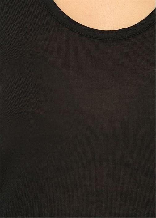 Malin Siyah Yuvarlak Yaka Tshirt