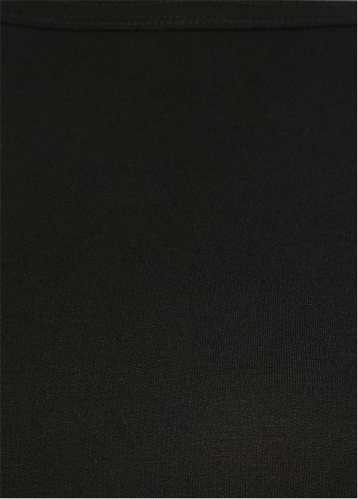 Flora Siyah Kayık Yaka Mini Elbise