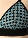 Mavi Monogram Logo Jakarlı Büstiyer