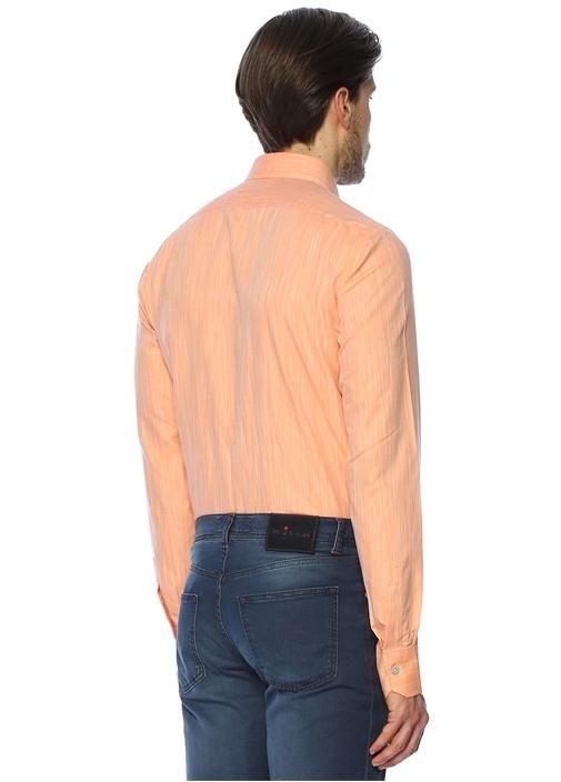 İngiliz Yaka Turuncu Gömlek