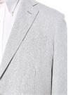 Beyaz Çizgili Kelebek Yaka Ceket