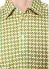 Sarı Zincir Desenli Polo Yaka T-shirt