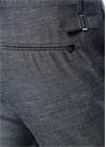 Gri Çizgi Dokulu Dar Paça Yün Pantolon