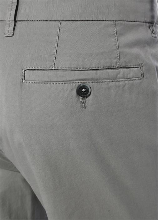 Gri Normal Bel Dar Paça Chino Pantolon