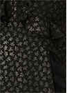 Darell Siyah Altın Mini Elbise