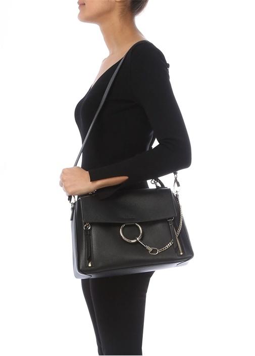 Faye Siyah Kadın Deri Çanta