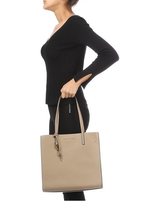 Grind Bej Kadın Deri Çanta