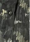 Reid Siyah Kapüşonlu Baskılı Palto