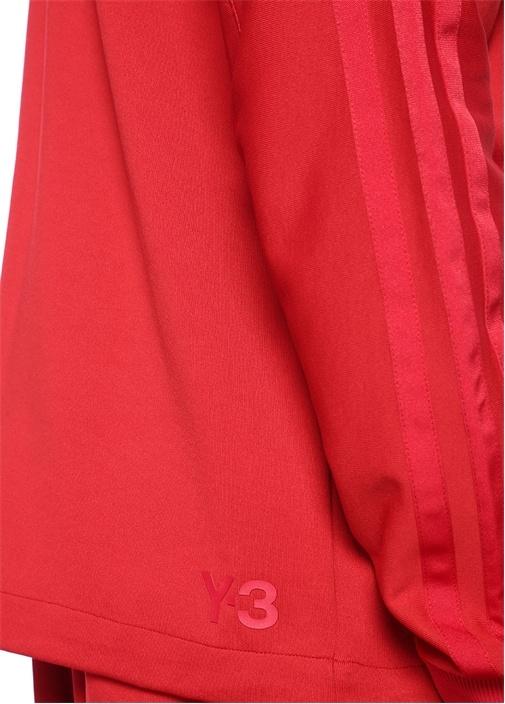 3STP Kırmızı Kapüşonlu Fermuarlı Sweatshirt
