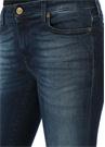 Lacivert Paça Aplikeli Normal Bel Jean Pantolon