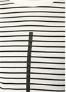 Beyaz Çizgili Şerit Baskılı T-shirt