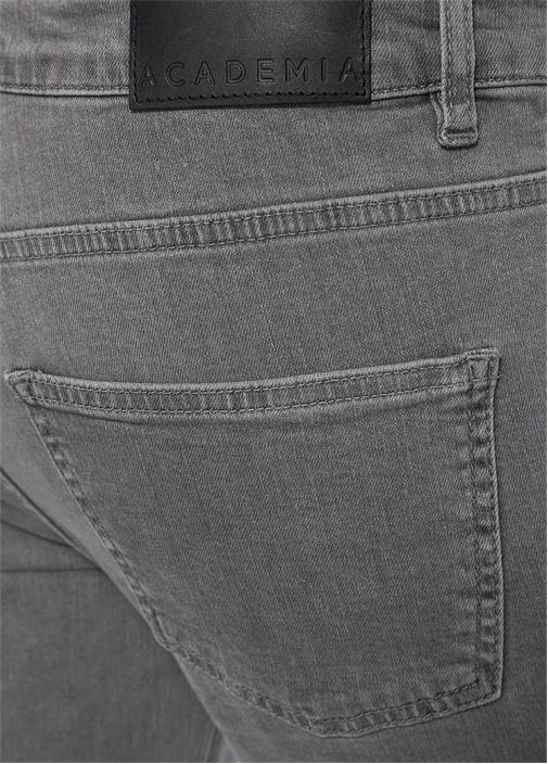 Slim Fit Gri Basic Jean Pantolon