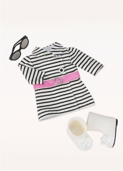 Striped Coat Outfit Oyuncak Bebek Aksesuar Seti