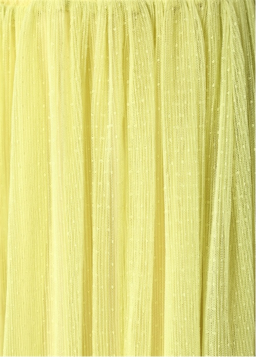Sigrid Sarı Puanlı Midi Etek