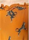 Alvild Hardal Çita Baskılı Önü Kısa Maksi Elbise