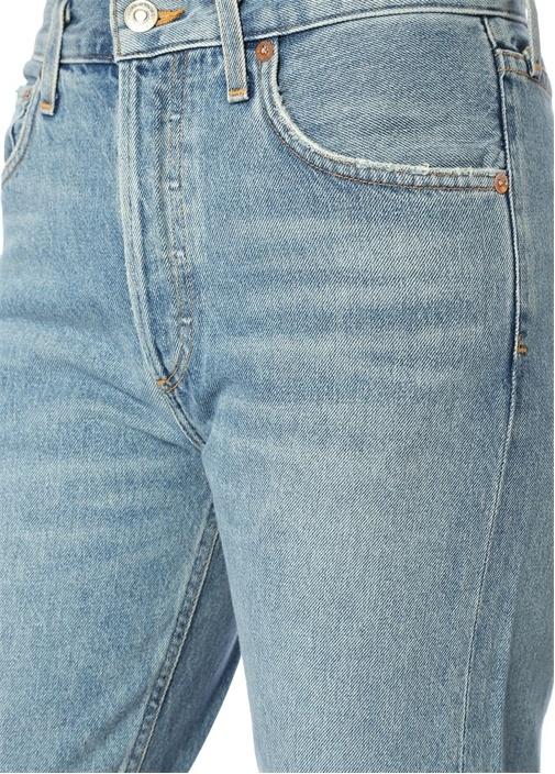 Jamie Mavi Yüksek Bel Düz Paça Jean Pantolon