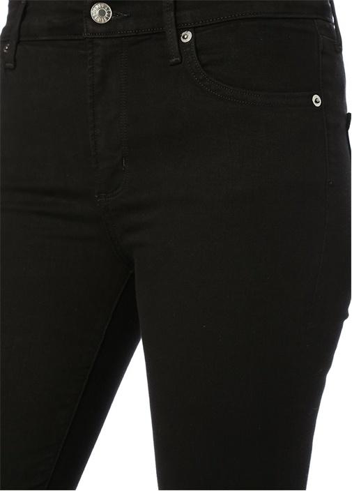 Sophie Siyah Normal Bel Slim Paça Jean Pantolon