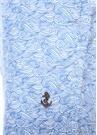 Beyaz Mavi Dalga Desenli Mayo
