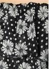 Sheer Mira Siyah Puanlı Çiçekli Midi Plaj Elbisesi