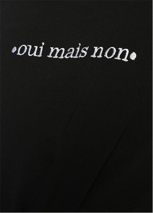 Siyah Nakışlı Tshirt