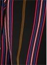 Simone Siyah Çizgili İpek Pantolon