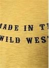 Sarı Yazı Nakışlı Basic T-shirt