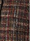 Bordo Dik Yaka Arkası Brokar Desenli Tweed Yelek