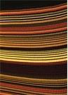 Colorblocked Çizgili Fırfır Detaylı Midi Etek
