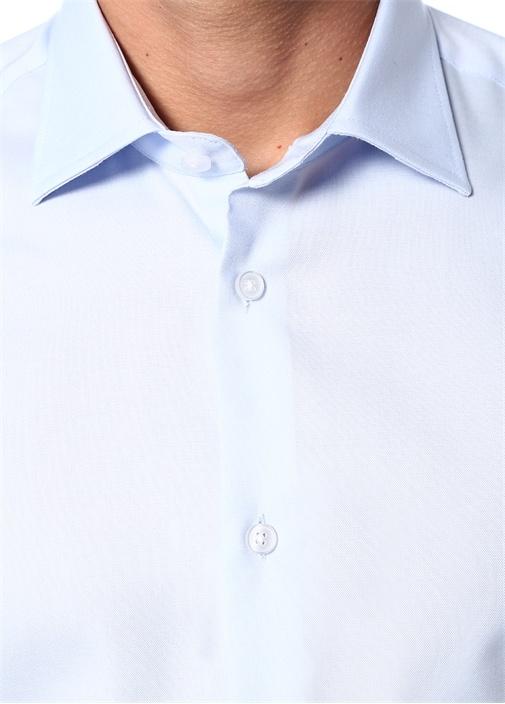 Slim Fit Mavi Non Iron Klasik Oxford Gömlek