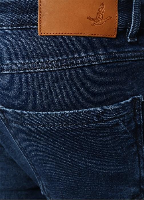 Slim Fit Old School Görünümlü Jean Pantolon