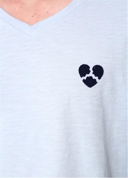 Broken Heart Mavi Melanj Tshirt