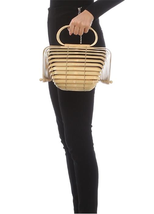 Lilleth Bej Bambu Kadın Çanta