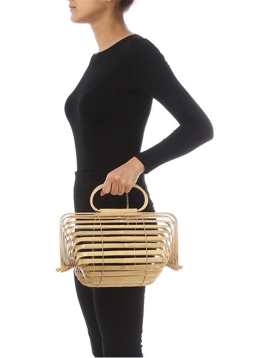 Chestnut Ahşap Görünümlü Kadın Çanta