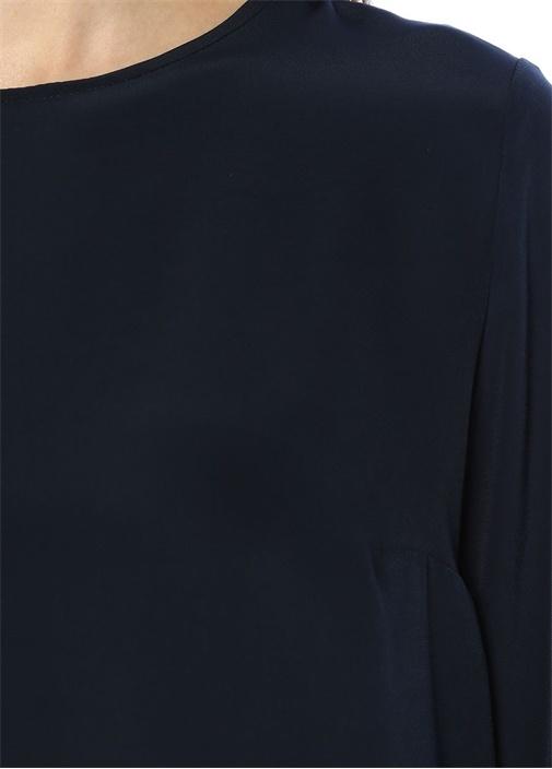 Lacivert Basic Mini Elbise