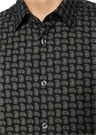 Custom Fit Modern Yaka Şal Desenli Gömlek