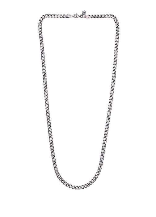 Zincir Formlu Kadın Gümüş Kolye