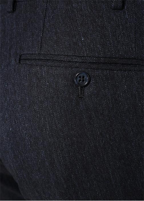 Slim Fit Drop 8 Lacivert Dokulu Pantolon