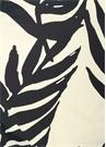 Siyah Beyaz Yapraklı Desenli Bikini Altı