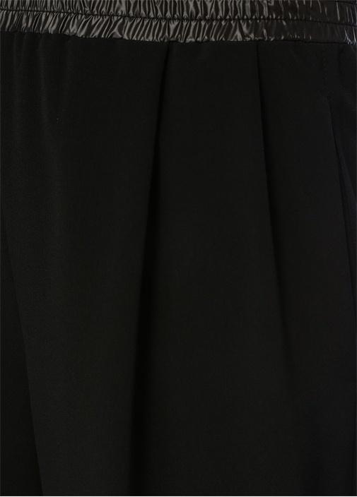 Siyah Boru Paça 4 Cepli Pantolon